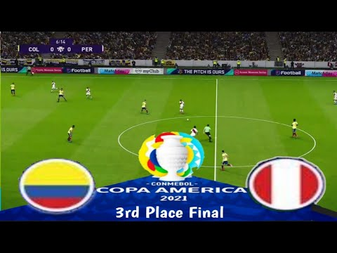 Download COLOMBIA v PERU | COPA America 2021 Third Place Final | GameplayPES 2021