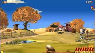 5min of crazy chicken / Moorhuhn - gameplay