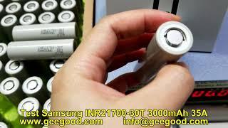 Test original brand new battery Samsung INR21700-30T 3000mAh 35A high amp 21700 battery from Geegood