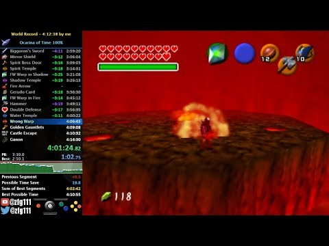 Ocarina of Time 100% Speedrun in 4:11:08