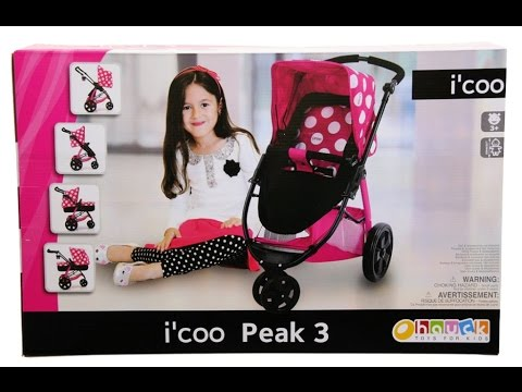 Isabella is excited for her i'coo peak 3 stroller/pram for her American Doll
