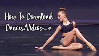 🔅 | How I Download Dances!