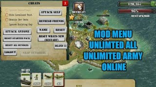 update battle island mod menu unlimited all unlimited army and others