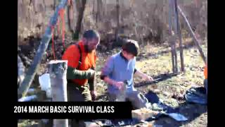2014 March Basic Survival Class at The Pathfinder School Property