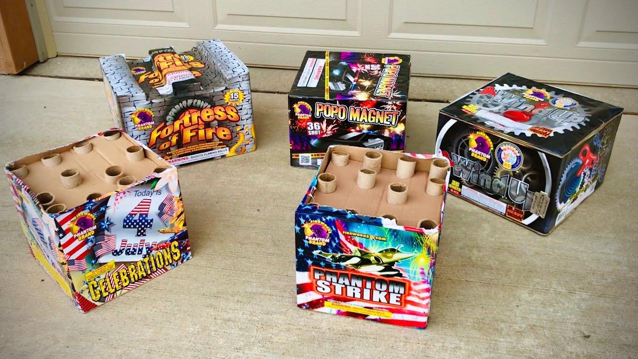 """Lighting INSANE """"500g"""" Cakes from Phantom Fireworks!"""