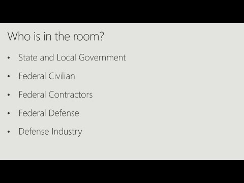 Dive into Office 365 for the US government and defense industry - BRK2045