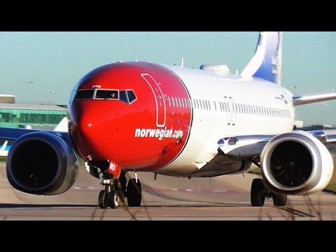 Norwegian | B737 MAX 8 | LN-BKB at Manchester Airport | RWY23L | Departure