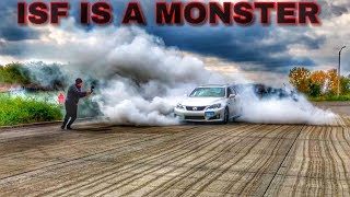 Lexus IS-F Full Bolt On Hooning!!! *Epic Burnout*