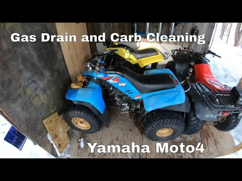 Yamaha Moto4 200dx ATV Gas Drain and Carb Clean