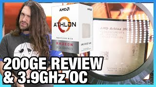 AMD Athlon 200GE Review & 3.9GHz Overclocking | Budget Gaming CPU