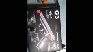 My Airsoft Guns (SP01 M9 Marine Gun and G3 Heavy Metal Pistol