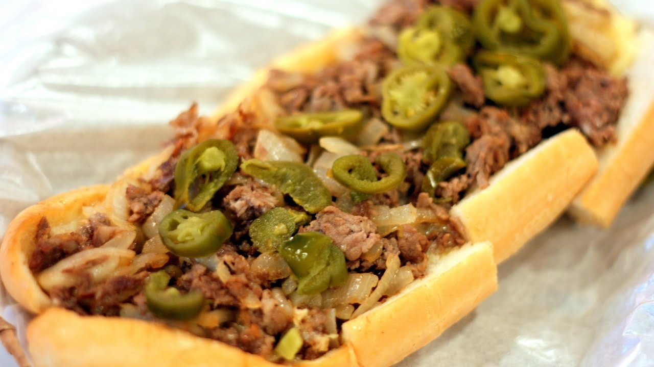 cheesesteak sandwich jamaican style  youtube