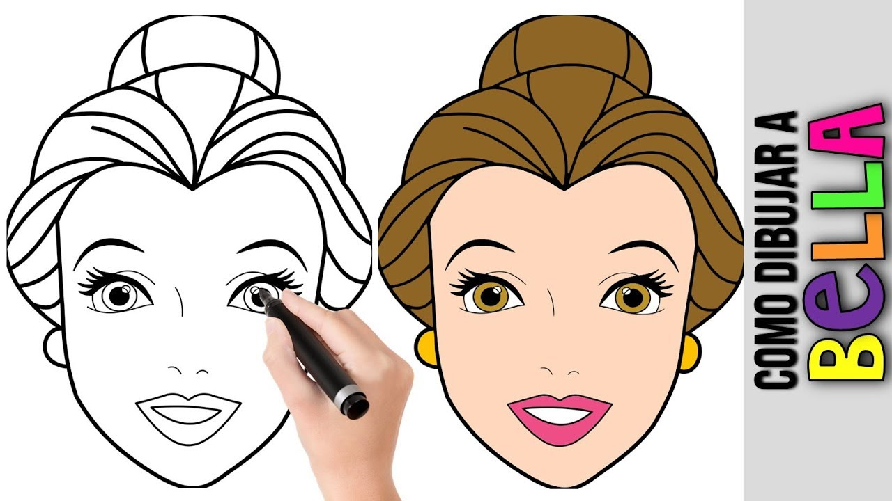 Como Dibujar A Bella Princesa De Disney Belle Dibujos Faciles Para Dibujar Paso A Paso Ninos Youtube