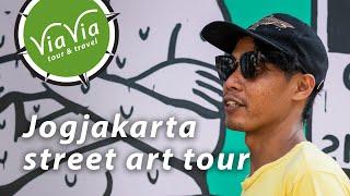 ViaVia Jogja's street art tour and workshop