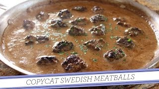 Copycat Swedish Meatballs | Homemade Recipe