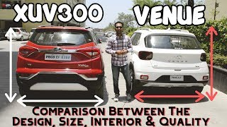 Hyundai Venue vs Mahindra XUV300 - Size, Design, Interior, Built Quality Comparison   BEST SUV ?