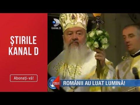 Stirile Kanal D(28.04.2019)-Toate bisericile s-au luminat! Romanii au luat lumina! | Editia de pranz