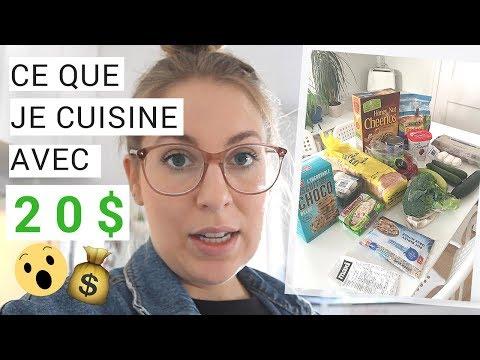 Manger avec 20 $/semaine, exemples de repas | Vivre Avec Moins