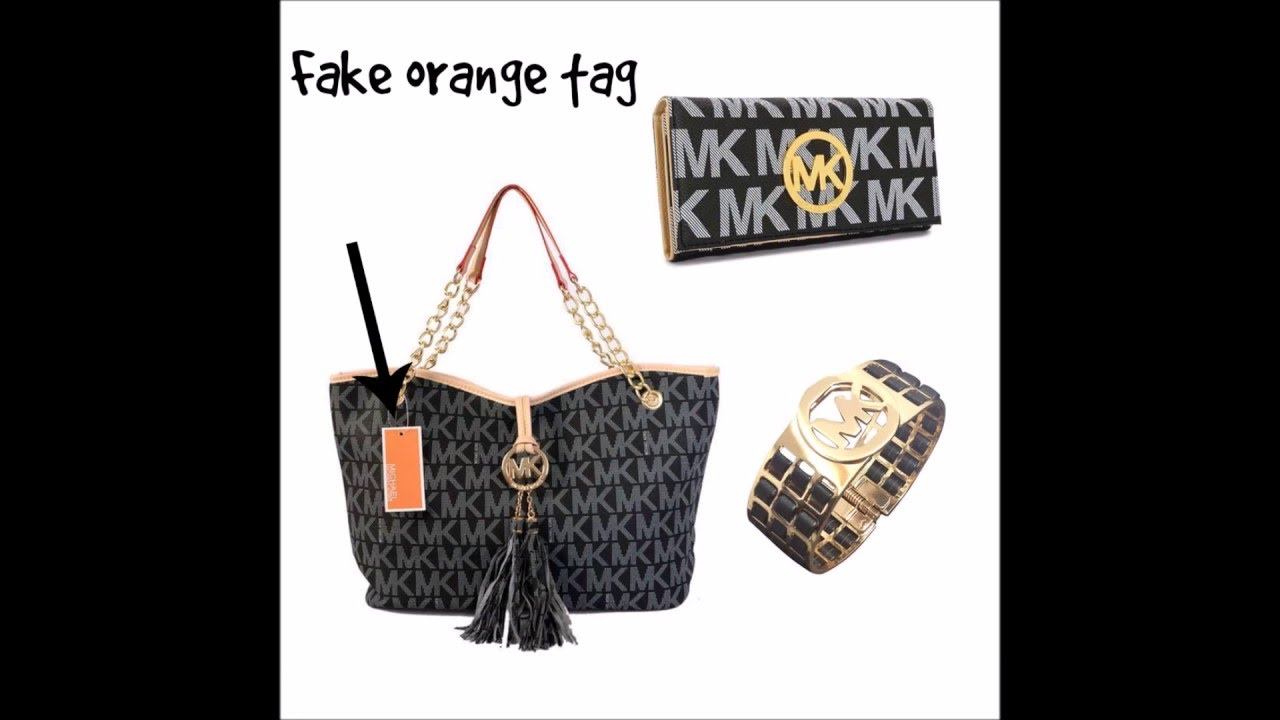 b4f6d6b93b8a How to spot a fake Michael Kors bag - YouTube