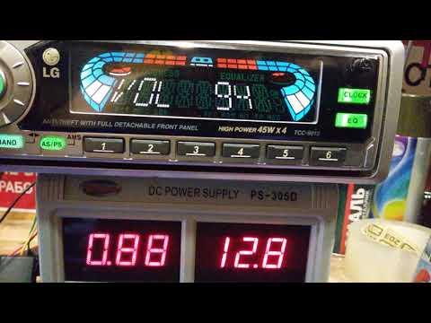 НАЗАД В ПРОШЛОЕ№104-2-кассетная автомагнитола LG TCC-9010-проба работы кассеты