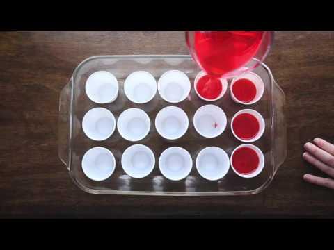 Strawberry-Banana Rum Jello Shots