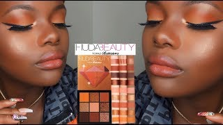 Orange Eyeshadow Tutorial | Huda Beauty Stones Obsession Collection | Topaz Obsession