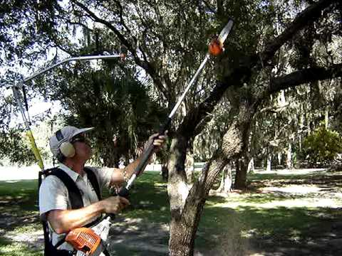 Easy Lift Harness With A Power Pole Pruner Youtube