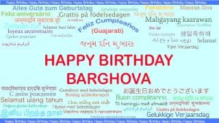 Barghova   Languages Idiomas - Happy Birthday