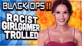 BO2 - MESSING WITH RACIST LESBIAN GIRL GAMER / SP33DY FAN! (COD BO2 TROLLING)