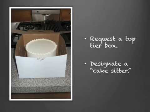 How to Freeze the Top Tier of Your Wedding Cake   YouTube How to Freeze the Top Tier of Your Wedding Cake