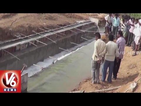 Kalwakurthy Project Water Wastage Due To Officers Negligence | Mahabubnagar | V6 News