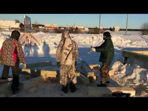 Как мы строим дома из оцилиндрованных бревен в Кирове. 1 часть