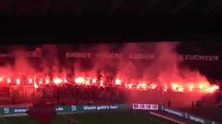 1.FC Nürnberg - VFB Stuttgart  Pyroshow 26.03.2014