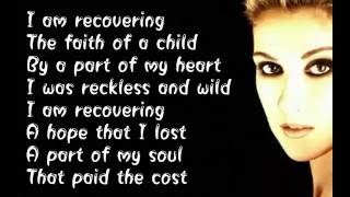 Celine Dion -  Recovering -  (  Lyrics )