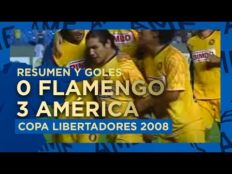 Resumen y Goles América 3-0 Flamengo Maracanazo Copa Libertadores de América 2008