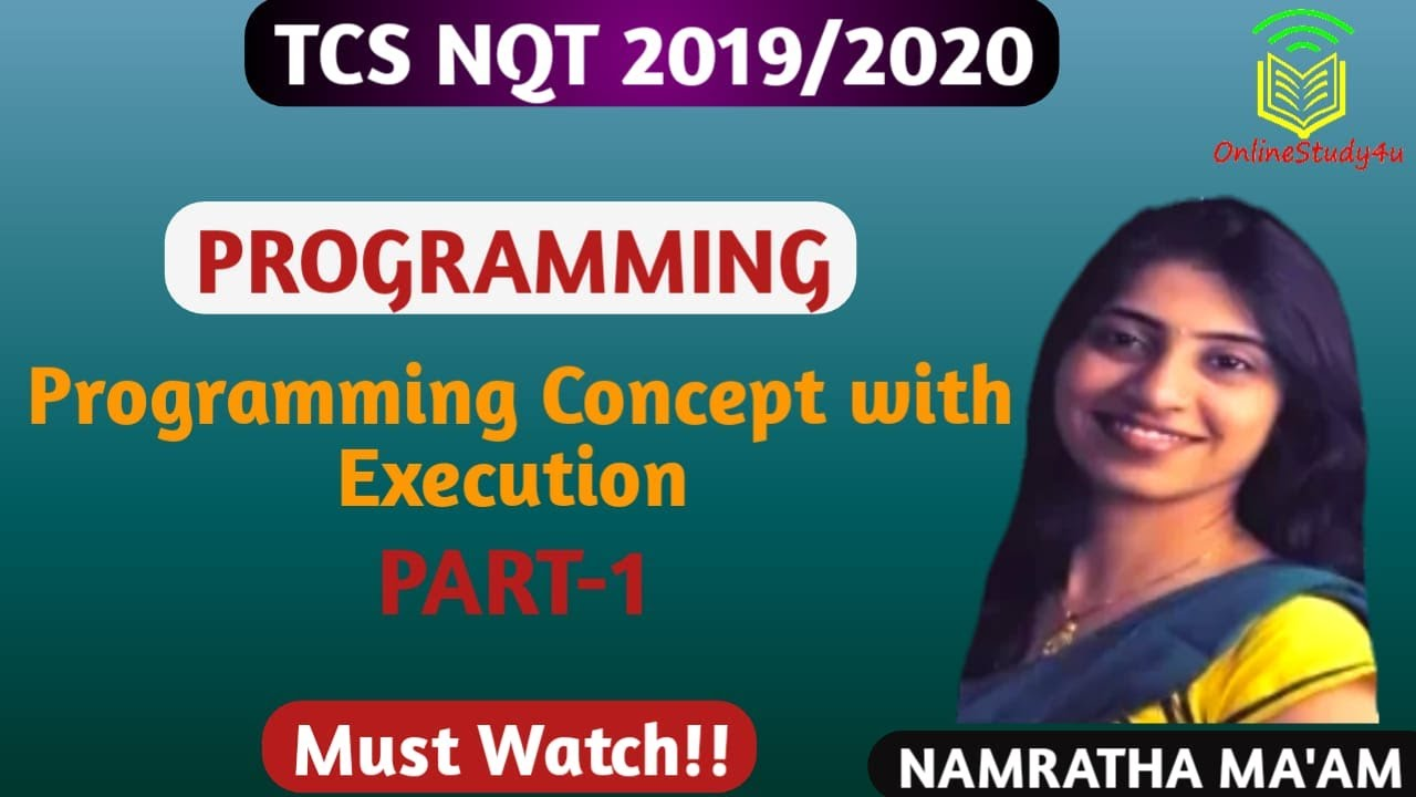 TCS NQT programming concept explained with Execution ! Easily understandable