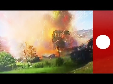 Columbian Fireworks Plant Explodes - Video - myvidster.com