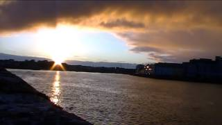 Galway sunset time lapse with mus