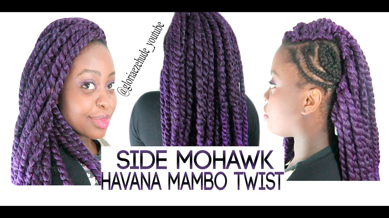 Crochet Hair Mohawk : HOW TO DO SIDE MOHAWK CROCHET BRAIDS W/ HAVANA MAMBO TWIST ...