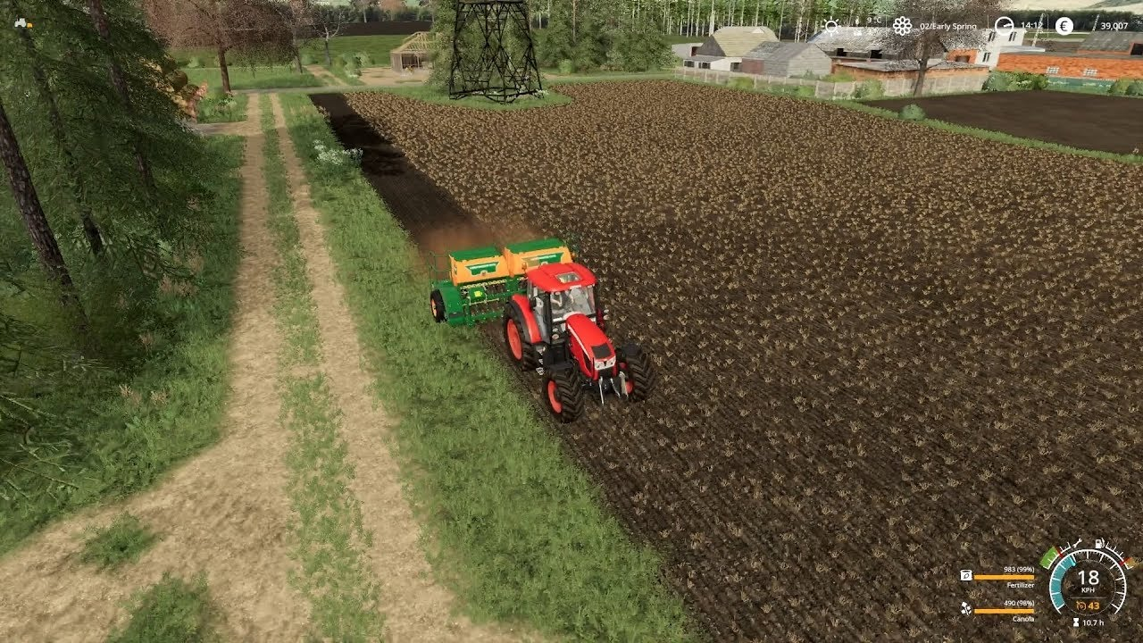 FS19 Starowies with Seasons Mod Timelapse #14 - Spring planting!