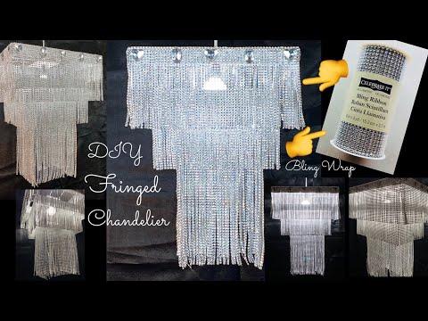 Dollar Tree DIY & Pinterest Inspired Glamorous LED Bing Wrap Chandelier Home Decor  2020 #WithMe