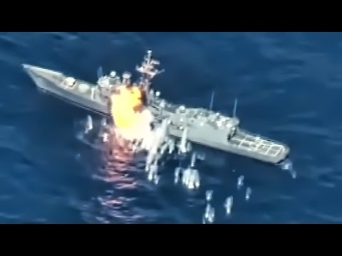 Ex-Navy Warship Hit By Missiles & Torpedoes • RIMPAC 2016