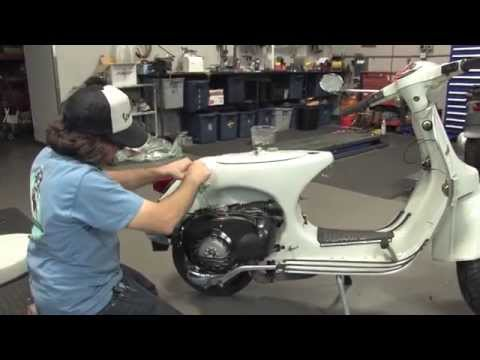 Vespa P200 Restoration - PART 4 - Final Wiring, Fuel/Oil Delivery, Glovebox Install