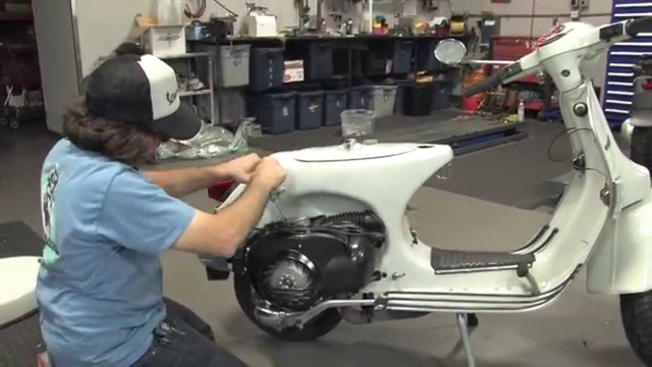 hight resolution of vespa p200 restoration part 4 final wiring fuel oil delivery glovebox install youtube