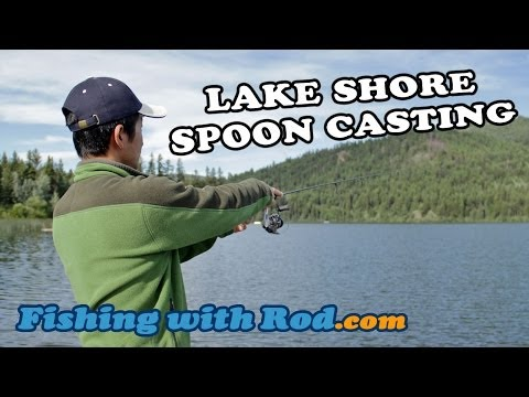Lake Shore Spoon Casting | Fishing With Rod
