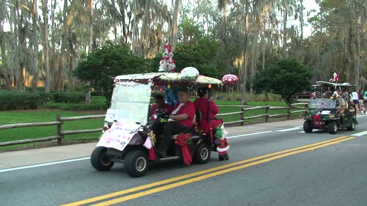 disneys fort wilderness christmas golf cart parade 122411 walt disney world