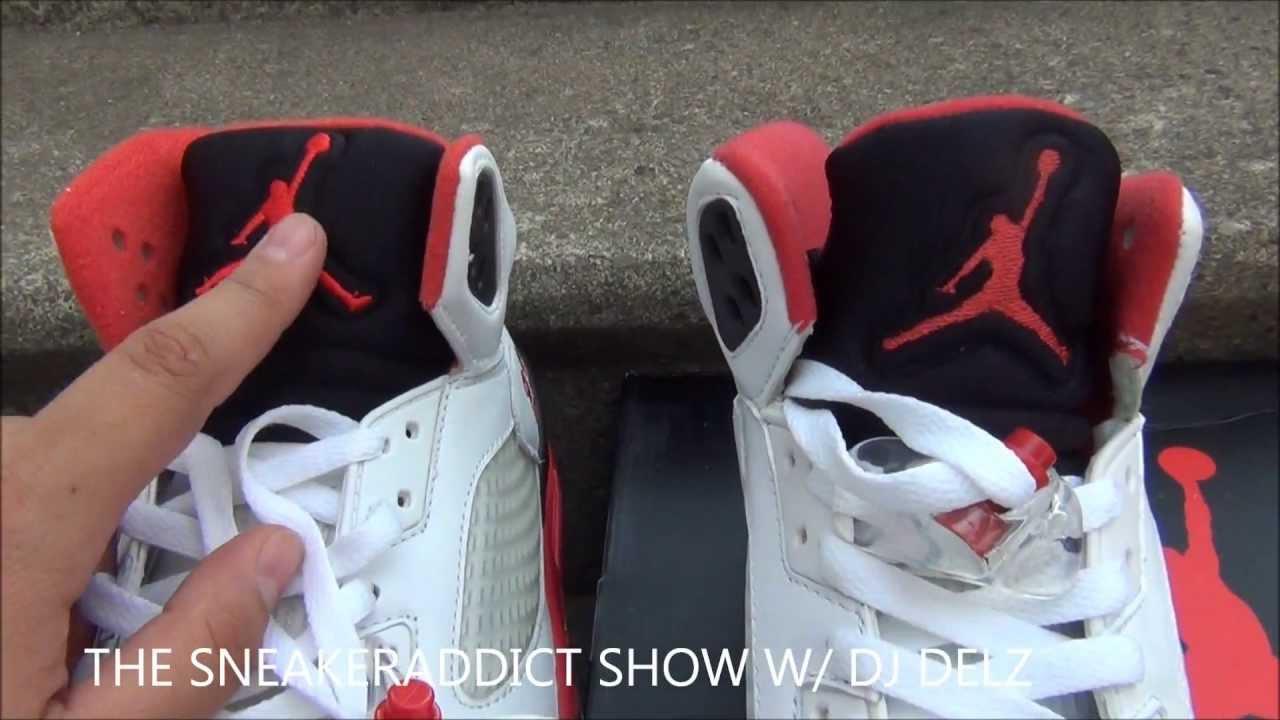 2013 Air Jordan Fire Red 5 V Black Tongue Sneaker Review 118ec50b1