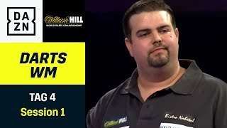 Kommt Neuling Gabriel Clemens auch in Runde 3?  Darts WM | Tag 4 Session 1 | DAZN