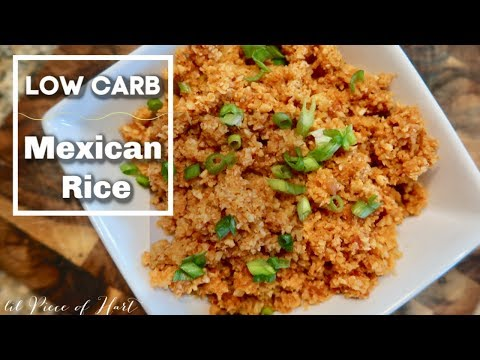 Mexican Cauliflower Rice | LOW CARB | Lil Piece Of Hart