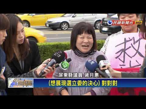 蔣月惠北上總統府抗議 2020挺小英不挺柯P-民視新聞